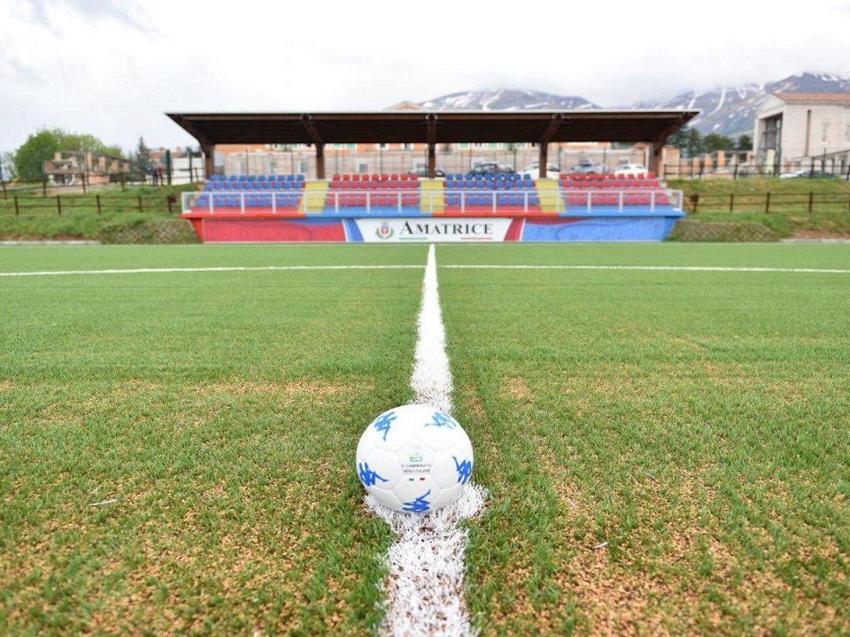 nuovo stadio di Amatrice associazione sportiva internazionale
